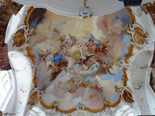 Deckenfresko von Johann Jakob Zeiller, Kloster Benediktbeuern