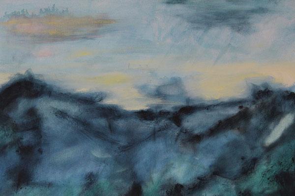 Blue Mountain, 60x80 cm, 10/2012, Acryl auf Leinwand,                  380 Euro
