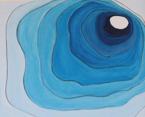 Blaue Lagune, 80x100 cm, 09/2012, Acryl auf Leinwand,                   350 Euro