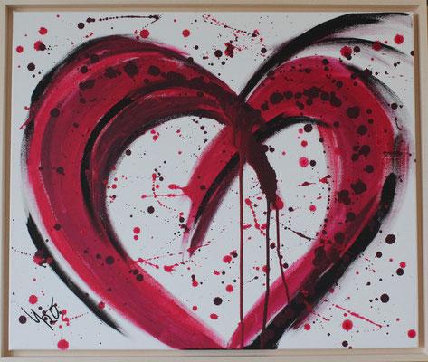 Herz, 50x60 cm, 2009, Acryl auf Leinwand, 150 Euro, verkauft