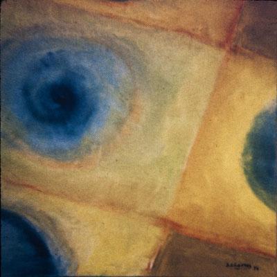 Círculos VI. Pisa 1974. Óleo sobre lienzo. 50x50.