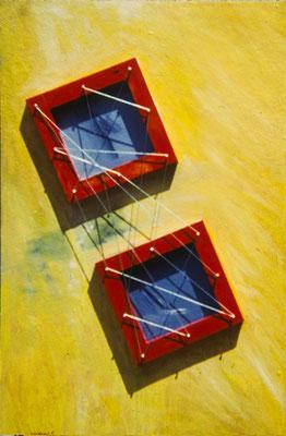 Sin título. Pisa 1973-74. Óleo sobre madera (2ª versión). 50x100.