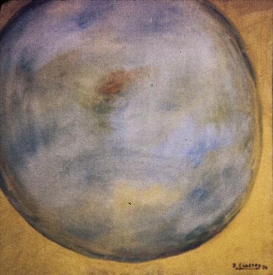 Círculos IV. Pisa 1974. Óleo sobre lienzo. 50x50.