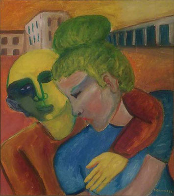Dos enamorados. Pisa. Propiedad de Francesco Tontoli y Tiziana Sassarini.