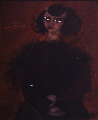 Figura. Pisa 1975. Óleo sobre lienzo. 40x50.