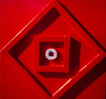 Kronos. Pisa 1973. Titanlux sobre madera. 50x50.