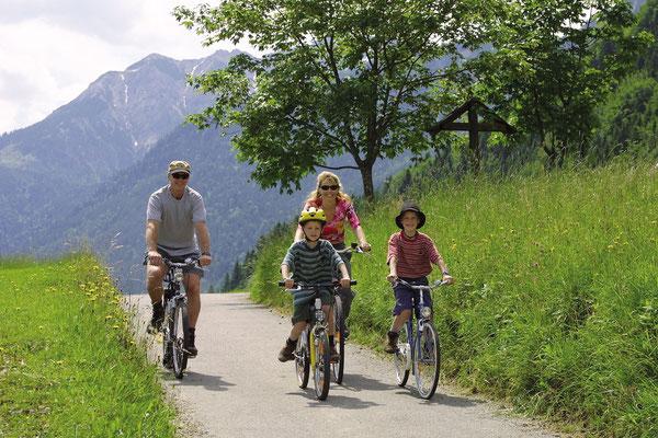 Radfahren oder Mountainbiken