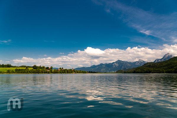 Weißensee mit Ammergauer Alpen