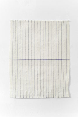Arna Óttarsdóttir, Dish Towel (for Agnes Martin), 2012, courtesy the artist and i8 Gallery Reykjavik, photo: Moritz Hirsch