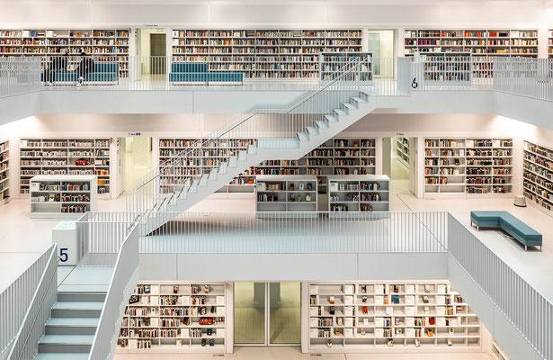 Stuttgart. Stadtbibliothek am Mailänder Platz.