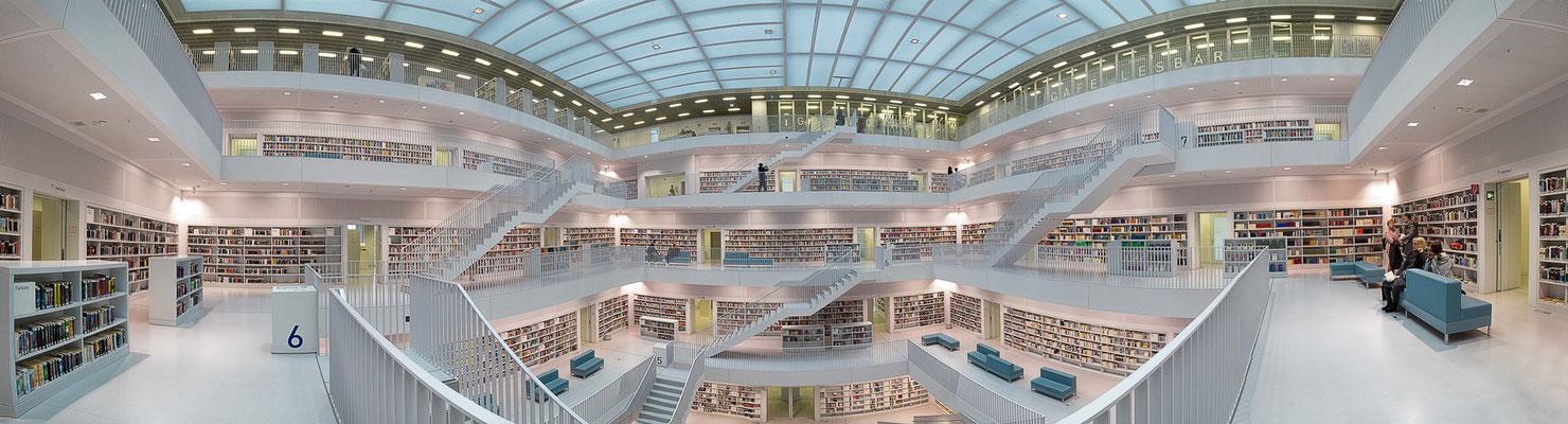 Stuttgart. Stadtbibliothek am Mailänder Platz II.