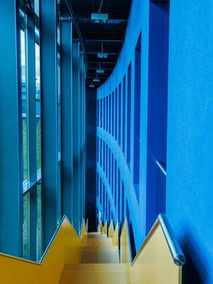 SRH. Treppenhaus im BlueTower.