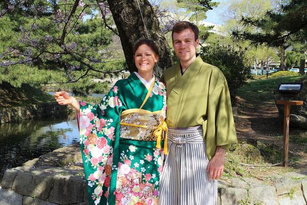 日本の桜を喜んでいただきました