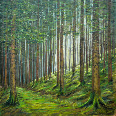 Bergfichtenwald, 60 x 60 cm, 420 €