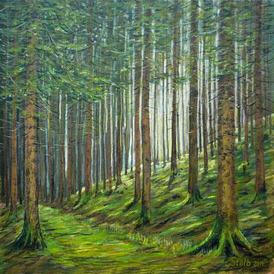 Bergfichtenwald, 60 x 60 cm, 390 €