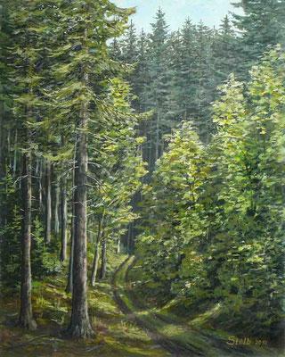 Talweg im Hochwald, 50 x 62 cm, 350 €