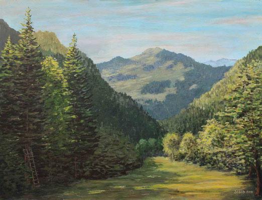 Talwiese in den Voralpen, 50 x 65 cm, 420 €