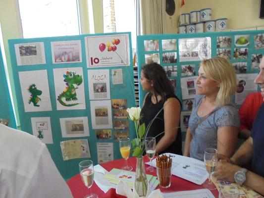 Interessierte Besucher konnten sich über Geschichte und Arbeit des Fördervereins informieren