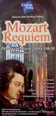 concert Cantus Felix requiem de Wolfgang Amadeus Mozart