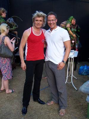 Magier Aurel Backstage mit Hans Klok