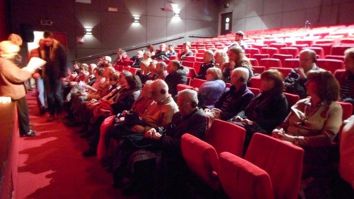 Photo de la salle et du public lors de la représentation du Journal d'une Femme de Chambre