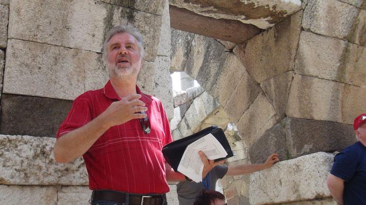 Bernd predigt in Smyrna