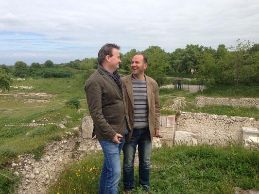 Bengt Wedemalm und Pastor Gentian Proseku in Troas
