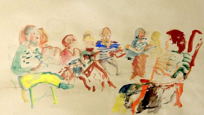 Portraitisti beim Zeichnen von Ben und Marlon  von Heinz I