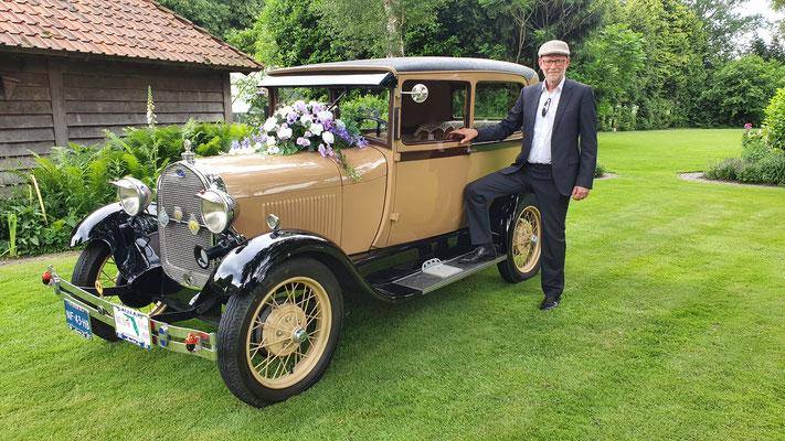 Trouwen klassieke auto