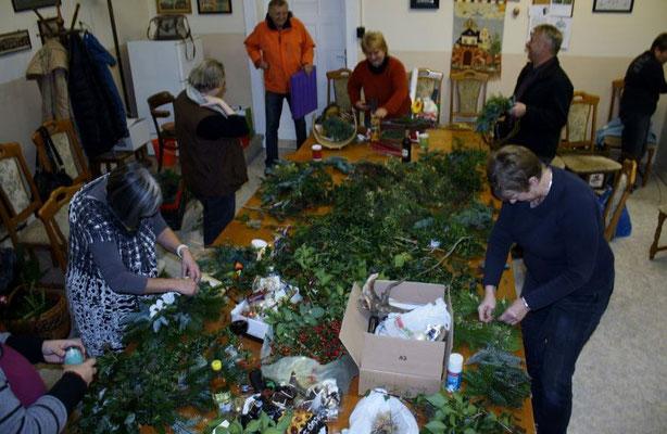Adventsgestecke Heimat- und Verschönerungsverein Wünschendorf an der Elster