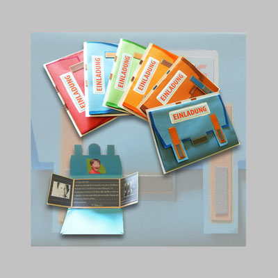 3D Einladungskarten/ Einschulung