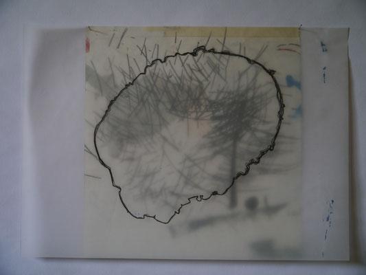 Sans titre, 2010, graphite sur calque surposé à un papier, 30 x 35 cm