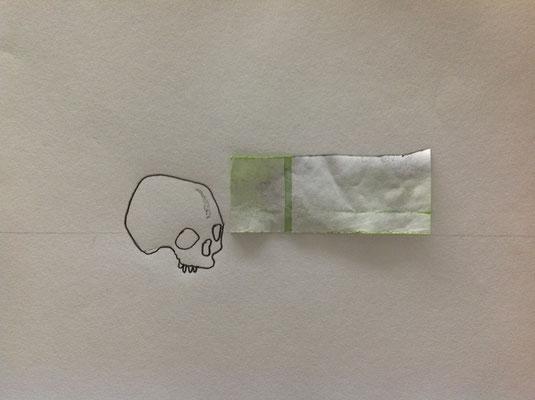 Sans titre, 2012, graphite, technique mixte sur papier, 21x29,7cm