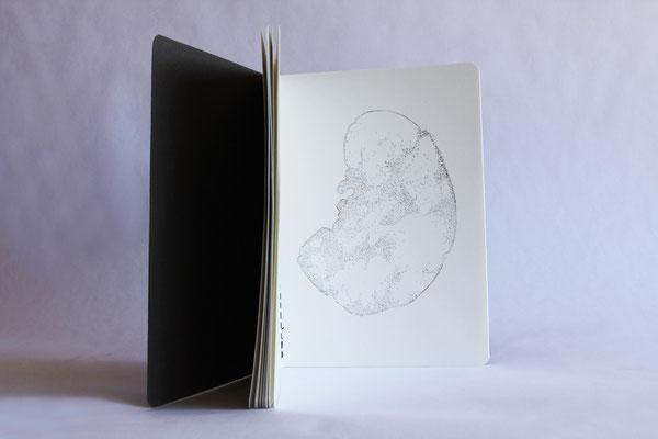 Carnet, 2014, graphite, 15 x 21 cm