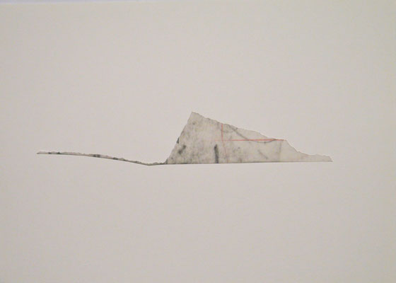 Sans titre, 2012, graphite, calque, technique mixte sur papier, 21x29,7cm