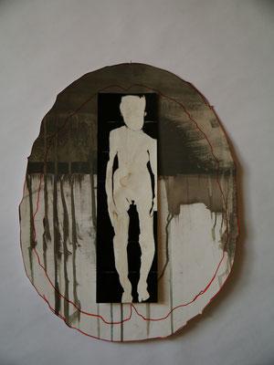 Sans titre, 2010, technique mixte sur papier découpé, 36 x47 cm