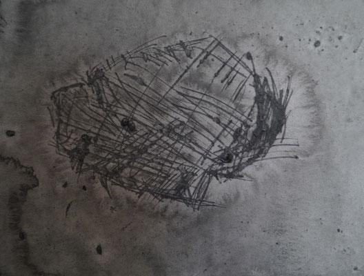 Sans titre, 2015, encre de Chine, pigments sur papier aquarelle moulin du coq, 325 g, 24 x 32 cm