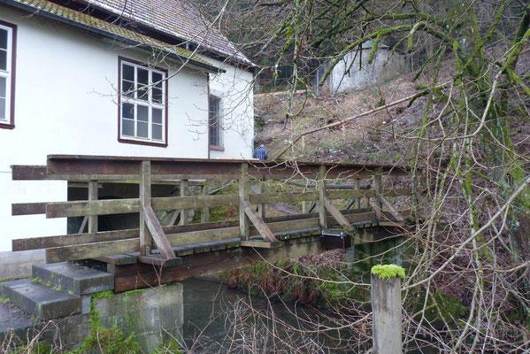 Nisthilfe unter Holzbrücke in Frammersbach