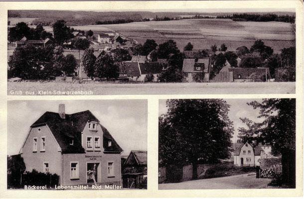 """Postkarte """"Bäckerei Ittner"""" (1961)"""