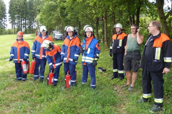 Brandbekämpfung mit dem Feuerlöscher