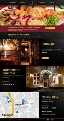 Kreta Taverna in Flensburg - Webseite