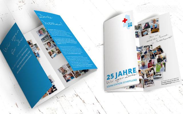 Sozialstation Schafflund - 25 Jahre Faltblatt
