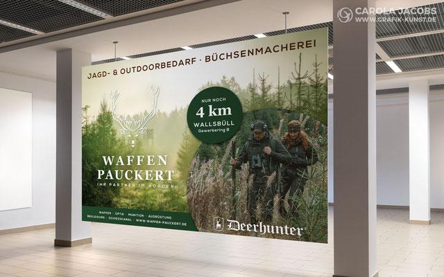 Großwandplakat für Waffen Pauckert Wallsbüll