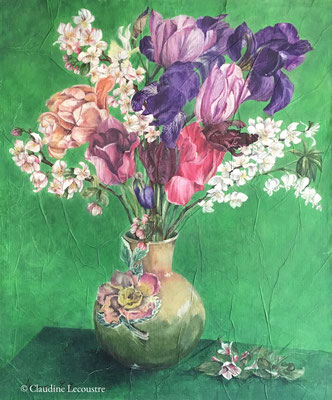 Bouquet de printemps / Spring bouquet, aquarelle et gouache / watercolor and gouache