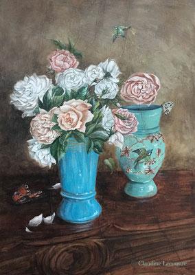 Les deux vases, gouache, aquarelle et caséine / gouache, watercolor and casein