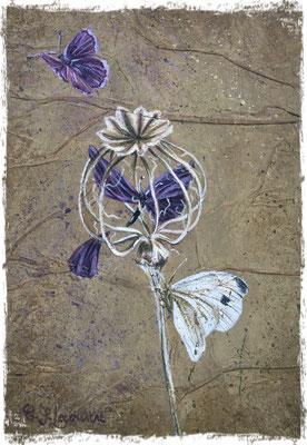Papillon prisonnier, acrylique / acrylic