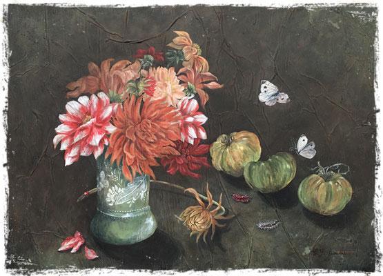 Cueillette d'automne, acrylique /acrylic