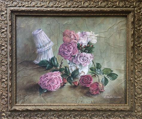 Les dernières roses, aquarelle et gouache / watercolor and gouache