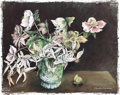 Bouquet de fin d'hiver, acrylique / acrylic