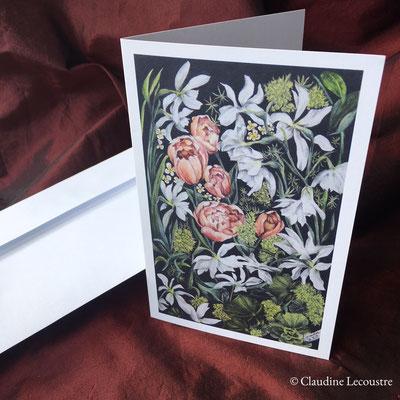 Carte de voeux Hommage à William Morris / Greeting card Tribute to William Morris